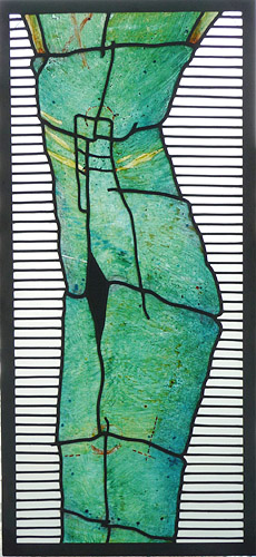 Figure, Painting on Glass, 1986 (in private collection)