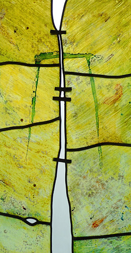 Two Figures, Painting on Glass (Detail), 1986 (in private collection)