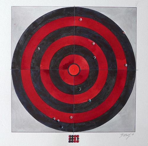 Off Target, 2007, Watercolor/Ink, 40x40 cm