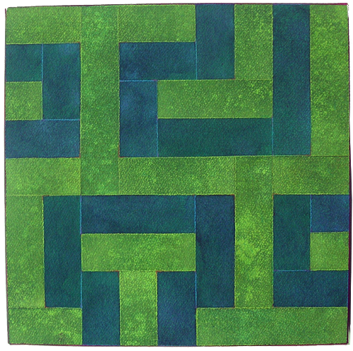 Green Labyrinth, 2006, Watercolor, 27x27 cm