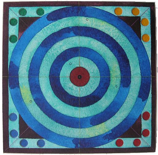 Mensch, Ärgere Dich, 2007, Watercolor, 16x16 cm