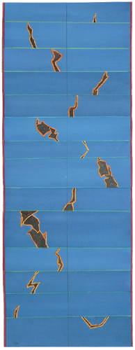Reshuffle (Ocean Shelf), 2009, Watercolor/Ink, 36x96 cm
