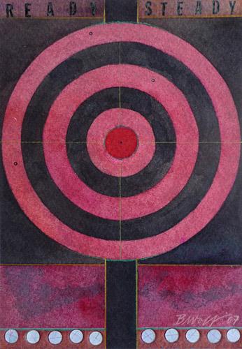 Ready, Steady, 2007, Watercolor, 12x17 cm