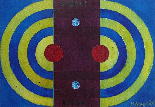 Double Vision, 2007, Watercolor, 11x16 cm